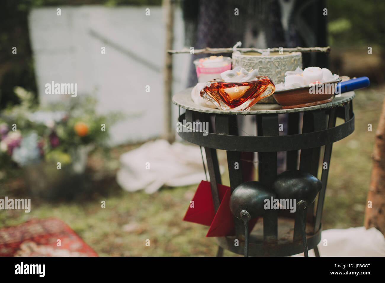 Autre mariage, cérémonie, rituel, accessoires Photo Stock
