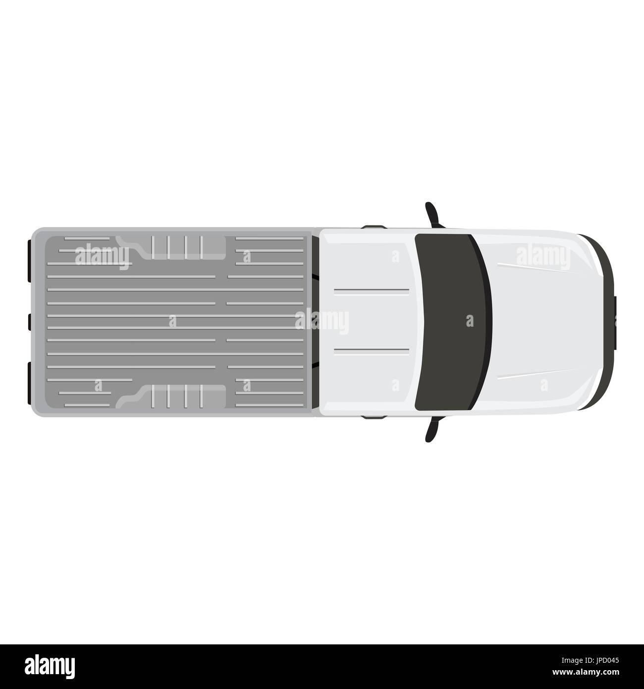 Vector illustration white pick up voiture camion vue d 39 en haut vecteurs et illustration image - Voiture vue de haut ...