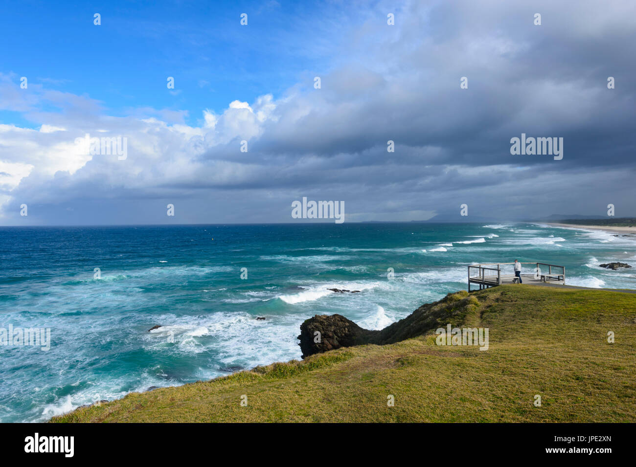 Vue depuis l'adherence Point, Port Macquarie, New South Wales, NSW, Australie Photo Stock