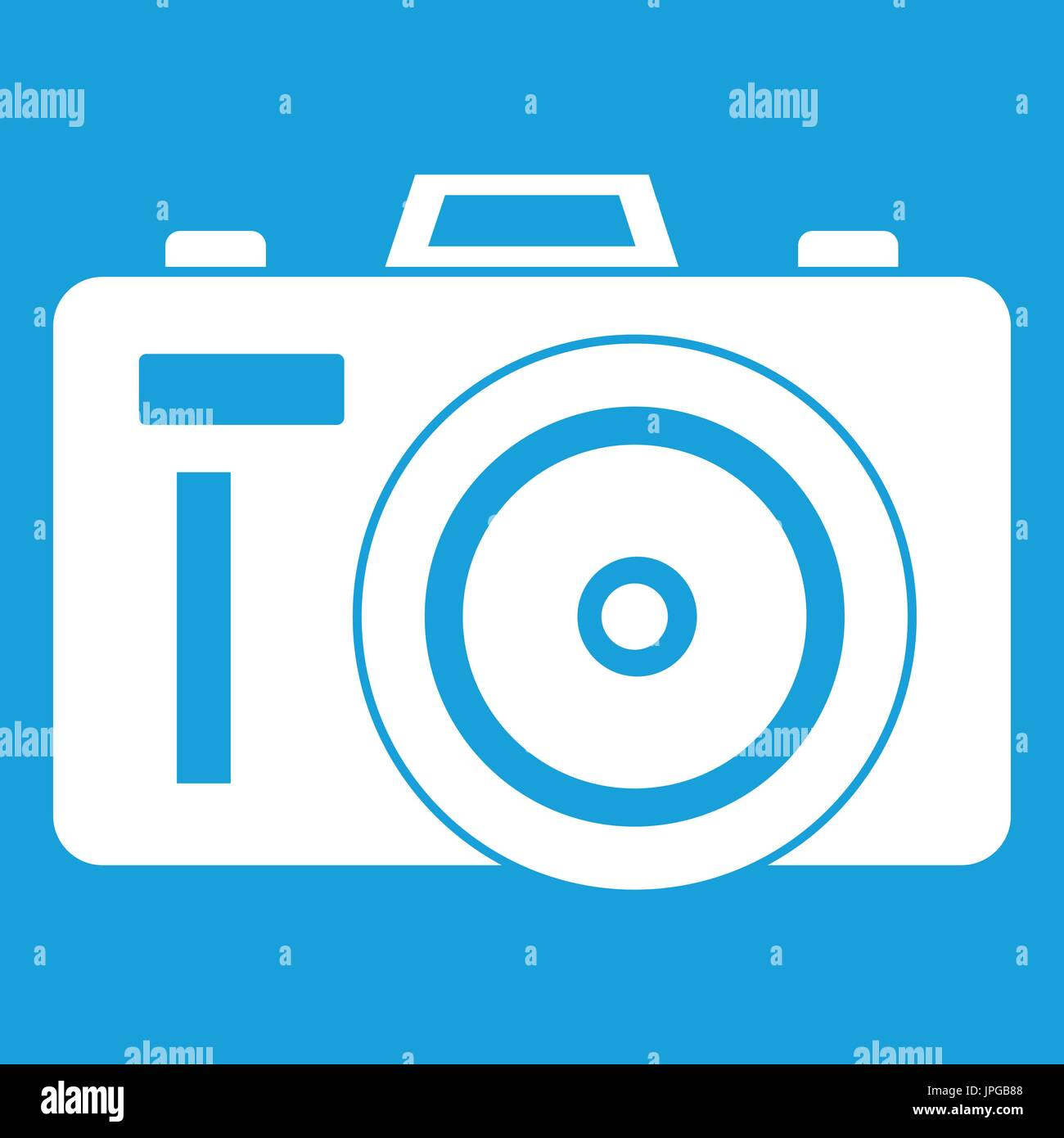 Icône Photocamera white Photo Stock