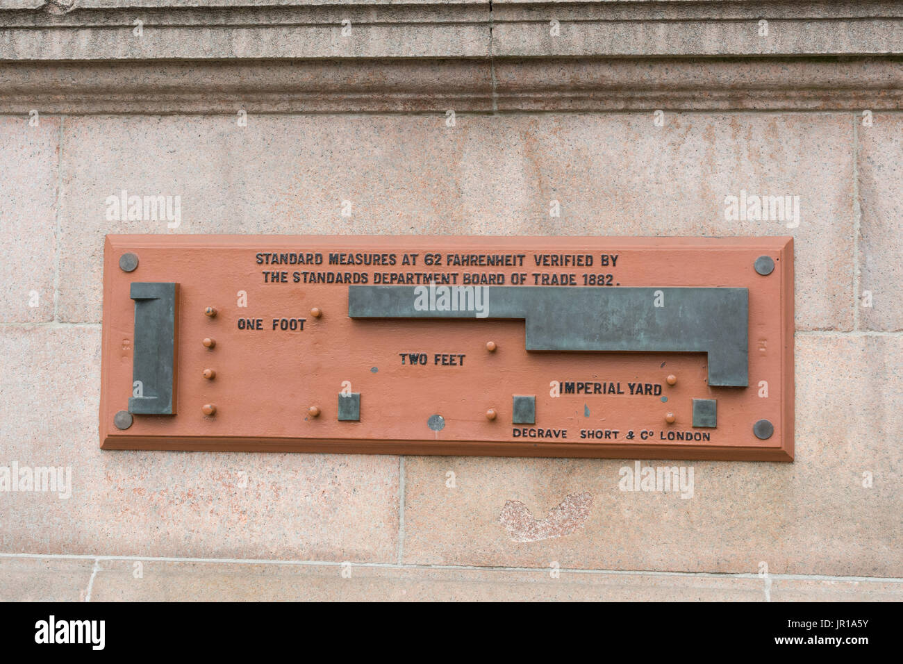 L'indicateur de mesure standard, Glasgow City Chambers, Glasgow, Écosse, Royaume-Uni Photo Stock