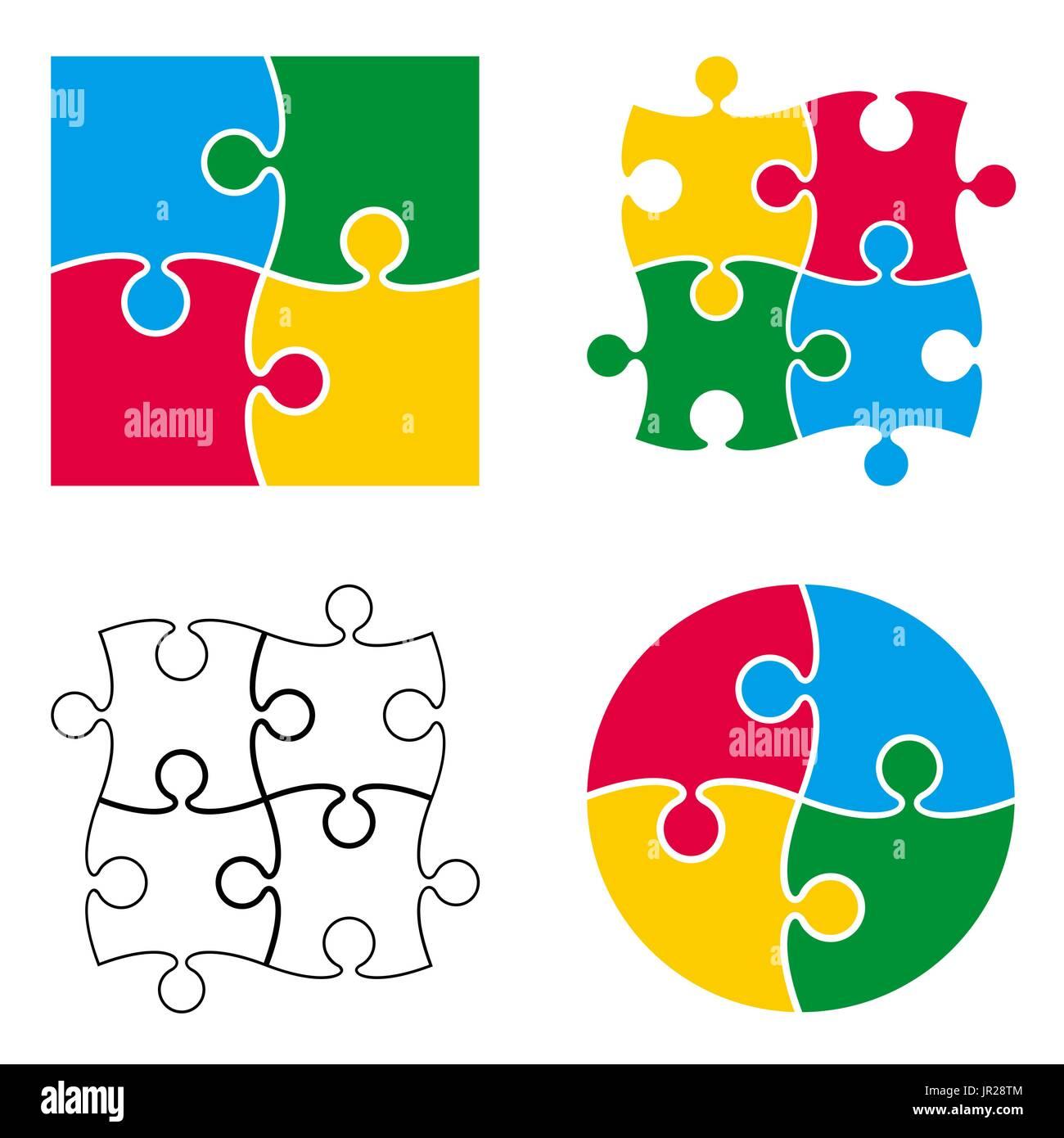 Vector pattern puzzle isolé sur fond blanc Illustration de Vecteur