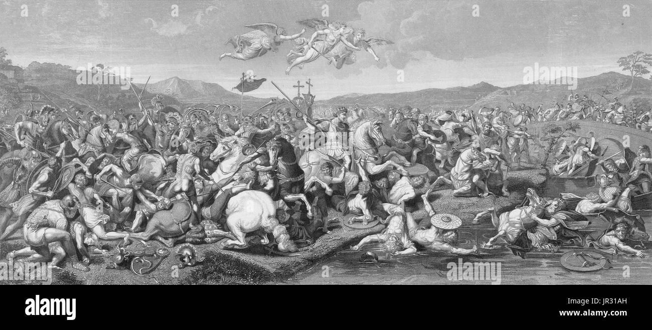 La guerre gothique est le nom donné à un soulèvement gothique dans l'Empire romain dans les Balkans entre environ 376 et 382. La guerre et en particulier la bataille d'Andrinople, est généralement considéré comme un tournant dans l'histoire de l'Empire romain, le premier d'une série d'événements au cours du siècle qui verra l'effondrement de l'Empire romain, bien que son importance pour l'Empire de finalement l'automne est encore discuté. La bataille de Constantinople est un gothique attaque sur Constantinople en 378 après la victoire gothique à la bataille d'Andrinople. La veuve de l'empereur Valens prépa Photo Stock