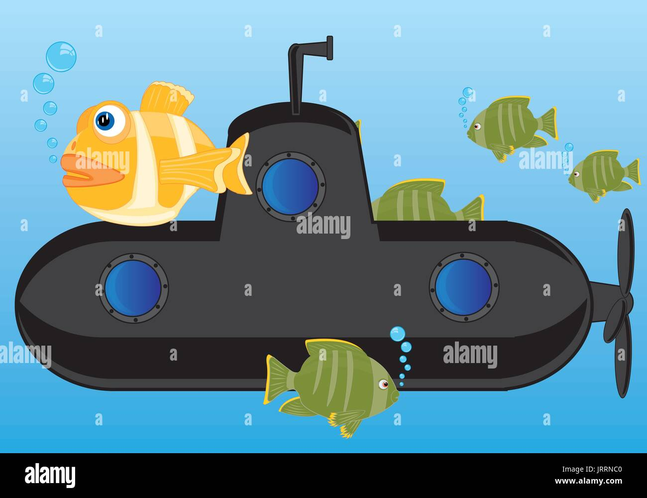 Sous-marin de la couleur noire Photo Stock