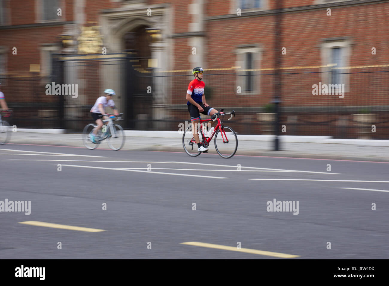 London cycle race 2017 prudentielle. Banque D'Images