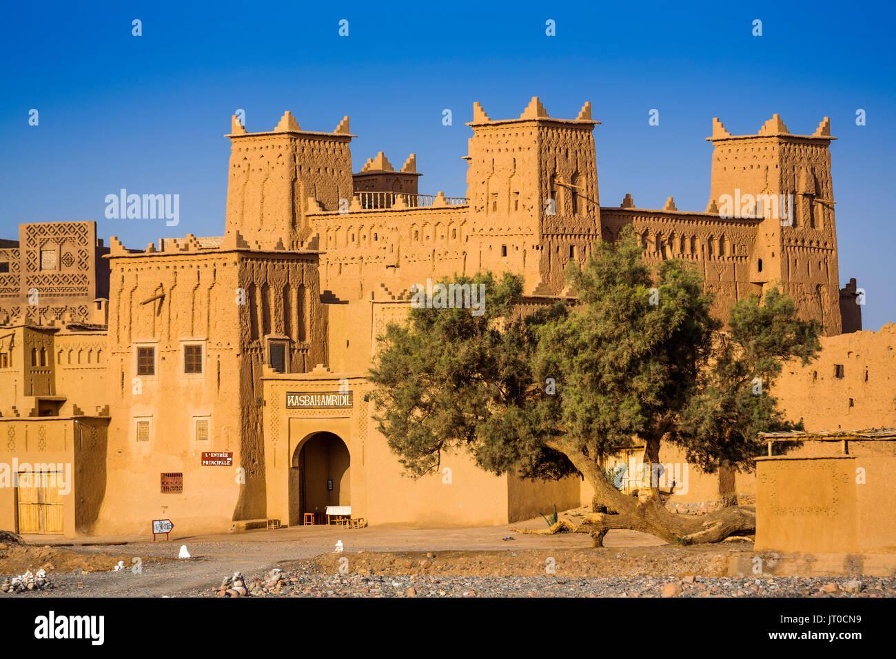Hôtel Kasbah Amridil, vallée du Dadès, Skoura. Le Maroc, Maghreb, Afrique du Nord Banque D'Images