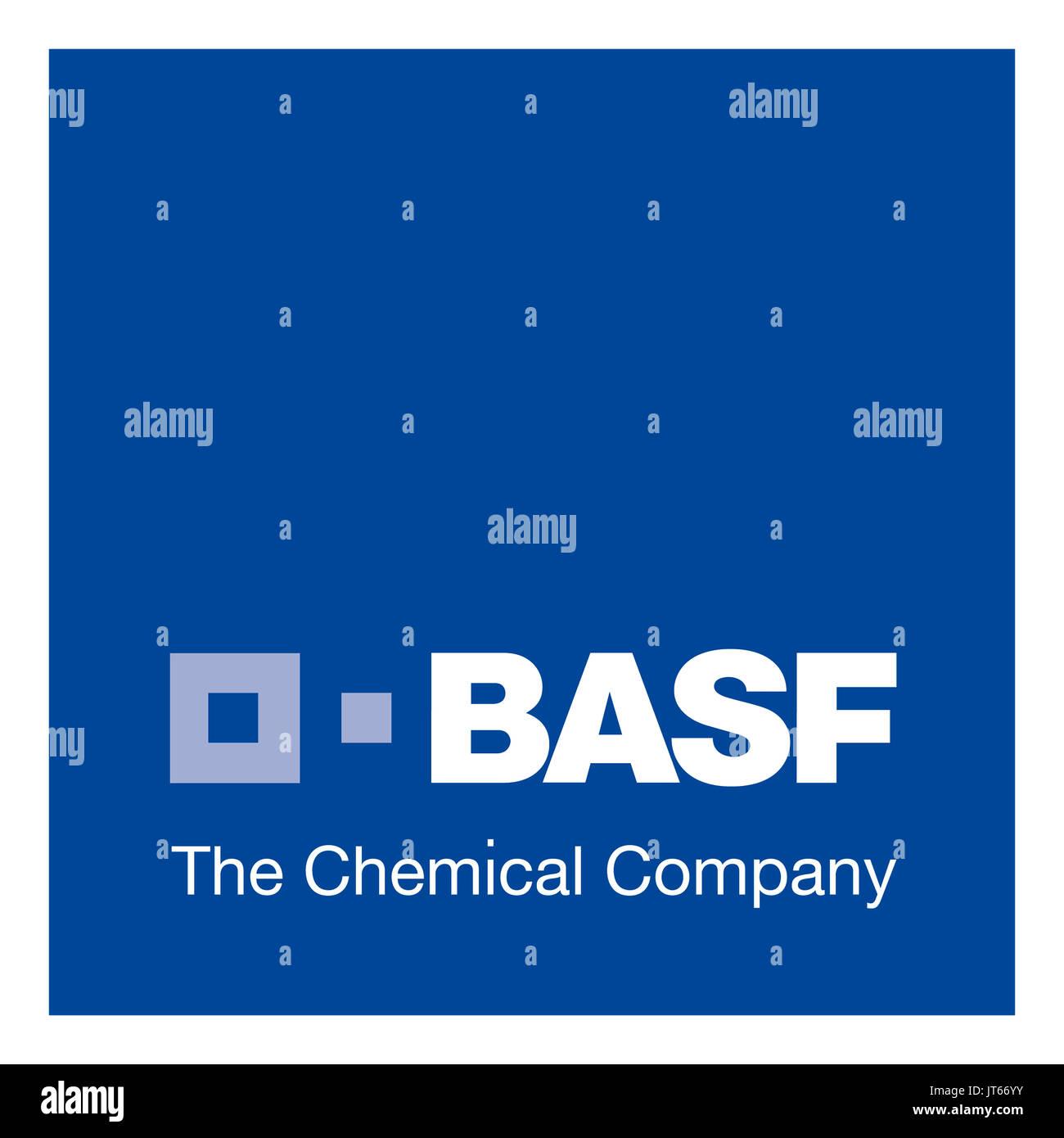 L'entreprise chimique BASF, entreprise chimique allemande, le logo de la société, le DAX 30 entreprises Photo Stock