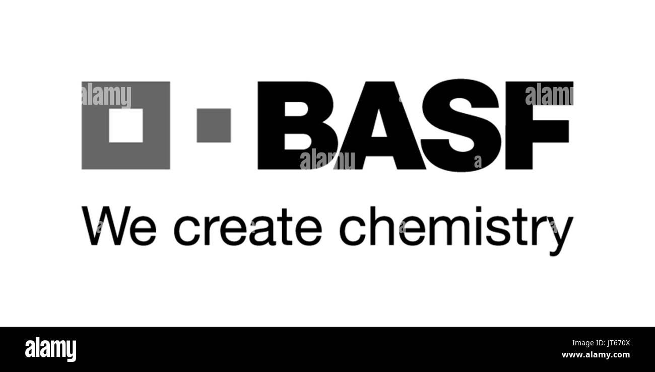 BASF, le logo de la société, entreprise chimique allemande, DAX 30 entreprises Photo Stock