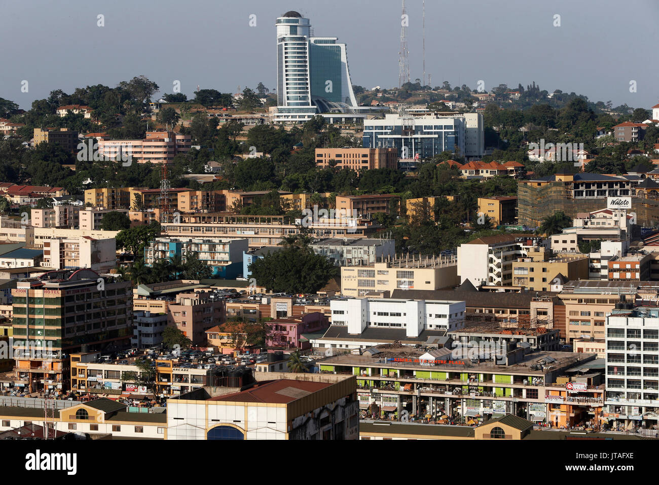 La ville de Kampala, Ouganda, Afrique du Sud Photo Stock