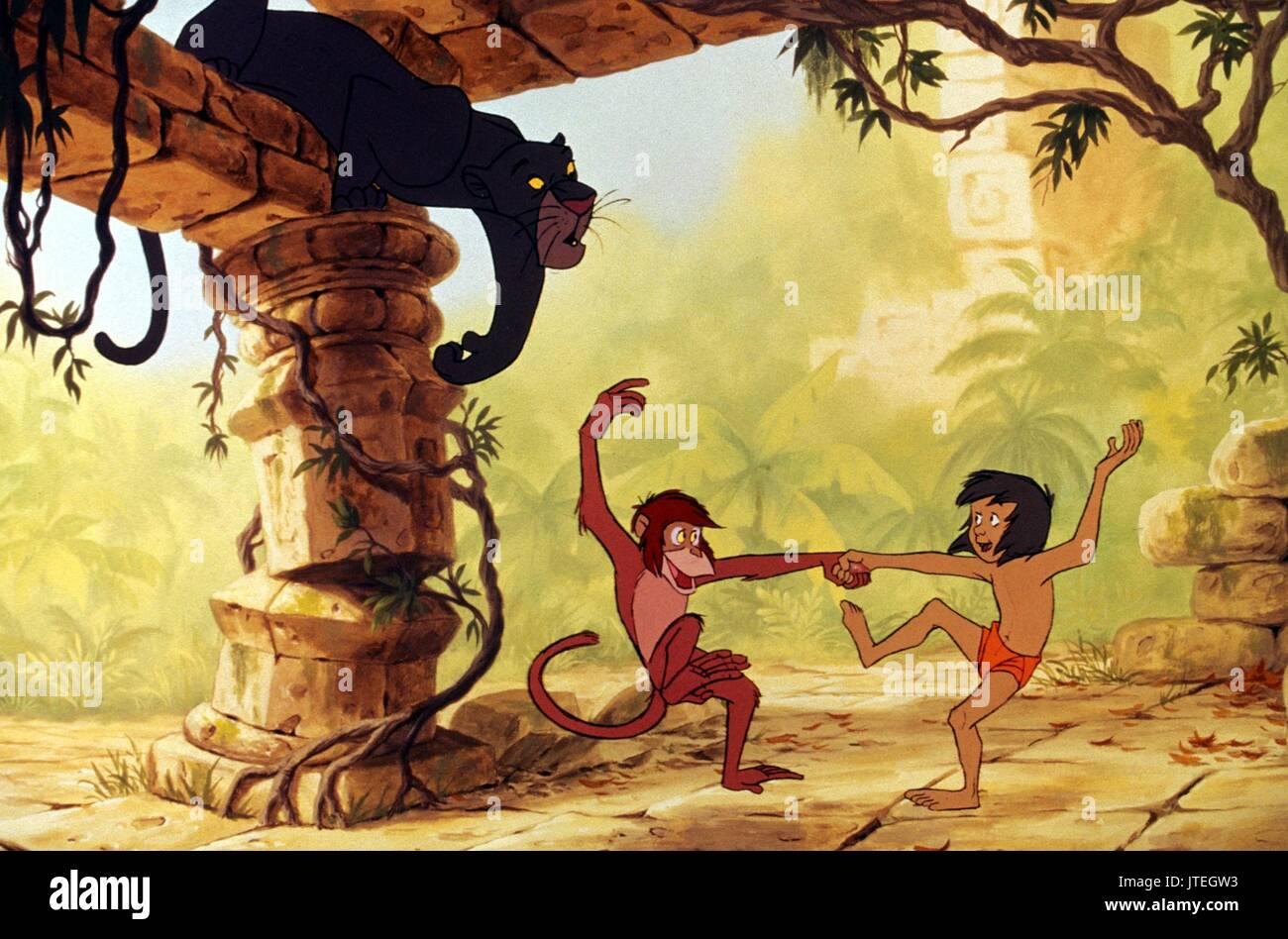 Bagheera Singe Mowgli Le Livre De La Jungle 1967 Banque
