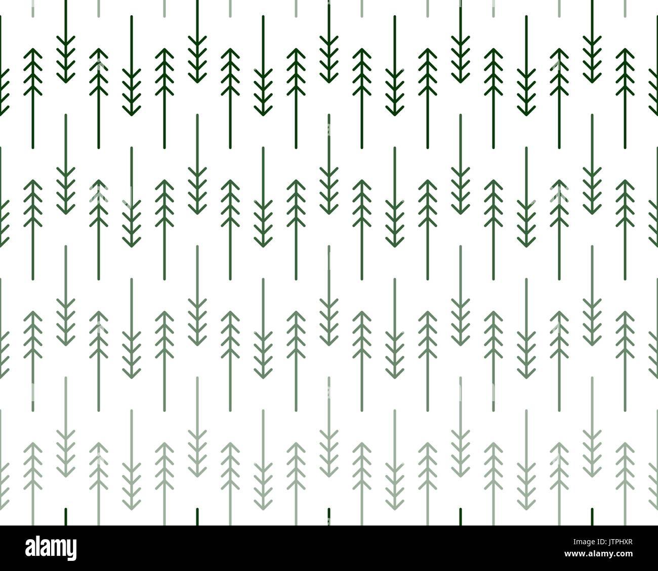 Motif Geometrique Scandinave Avec Lineaire Stylise Et Les Pins Dans Des Tons De Vert Sur Fond Blanc Imprimer Pour Noel Enrouler Du Papier Ou Moder Image Vectorielle Stock Alamy