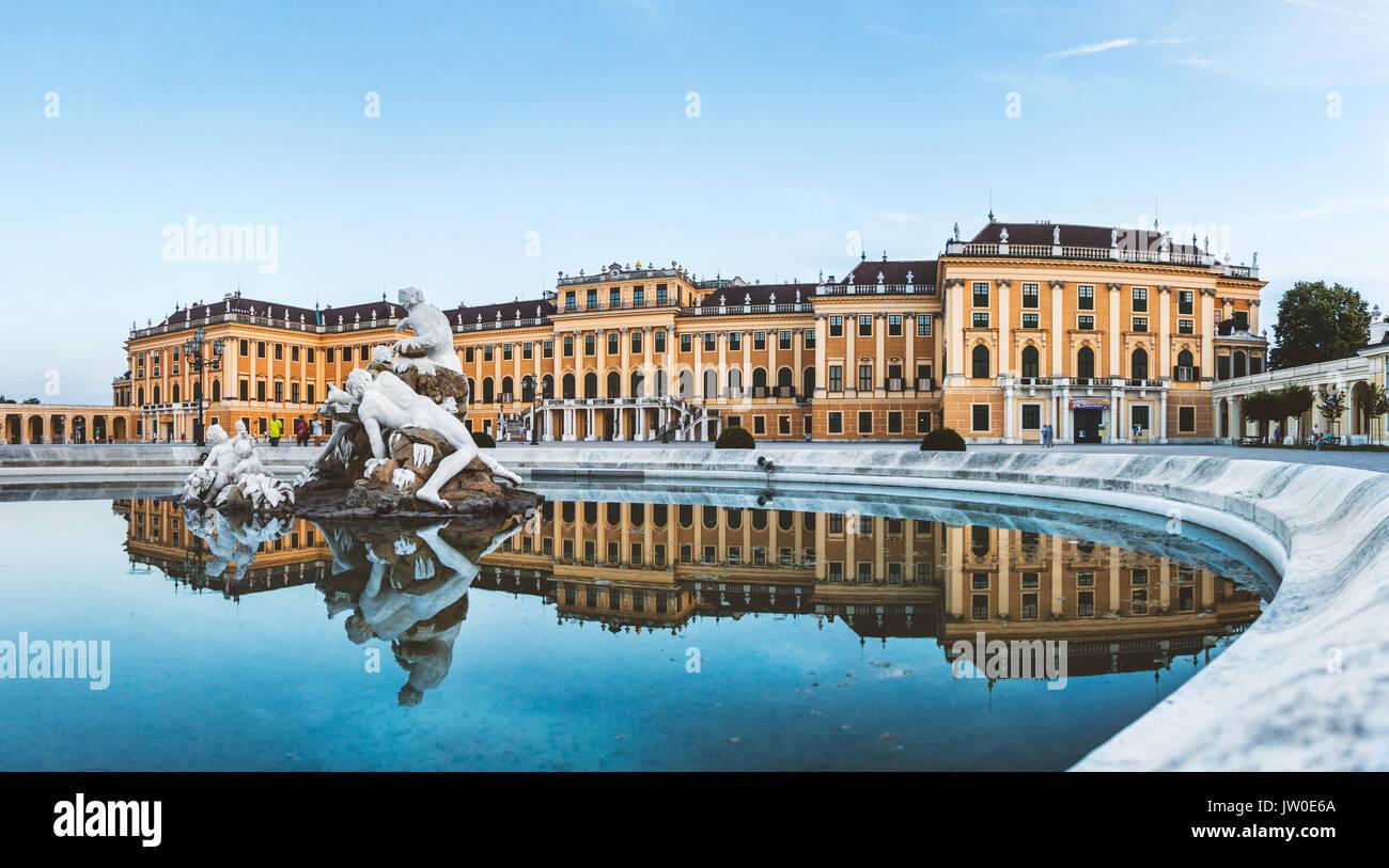 Beau palais Schönbrunn à Vienne, Autriche Photo Stock
