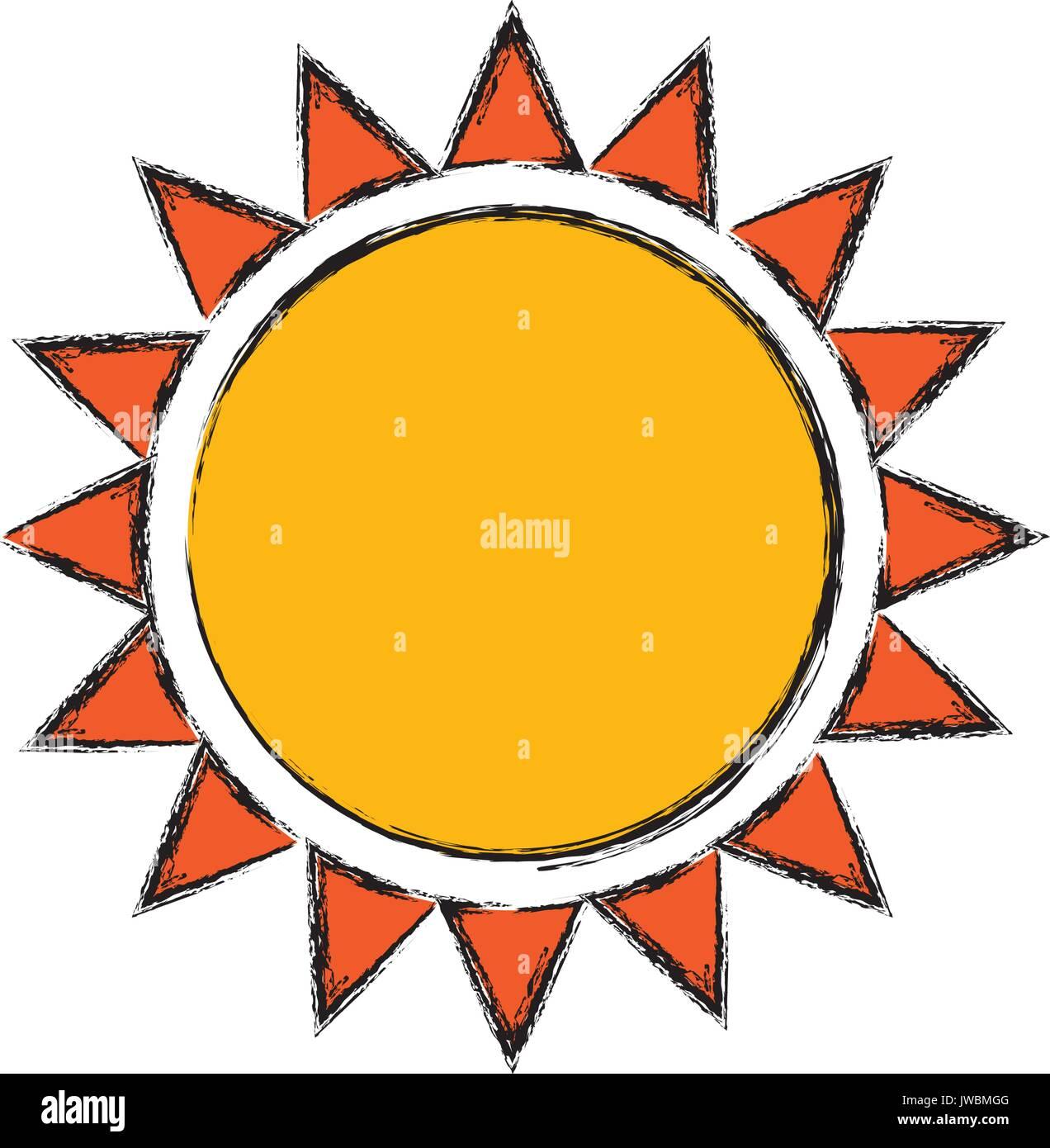 image d'icône de soleil Photo Stock