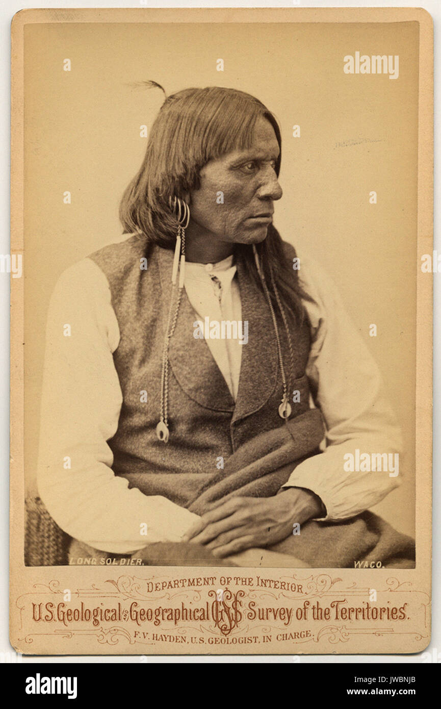 Soldat Long Waco Art Histoire Photographie Vintage Antique XIX Eme Siecle 19 Epoque Victorienne Etats Unis Cartes De Visite