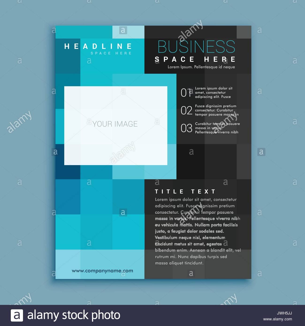 Blue Square Créatif Affaires Géométriques Brochure Flyer