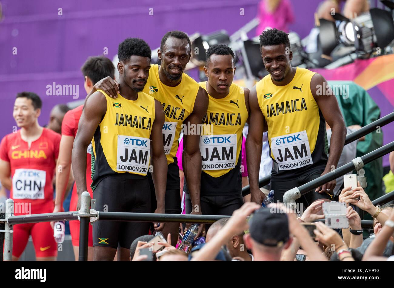 Londres, Royaume-Uni. 12Th Aug 2017. La, la Jamaïque. , . Le jour 9 du Parc olympique, Londres, Angleterre le 12 Banque D'Images