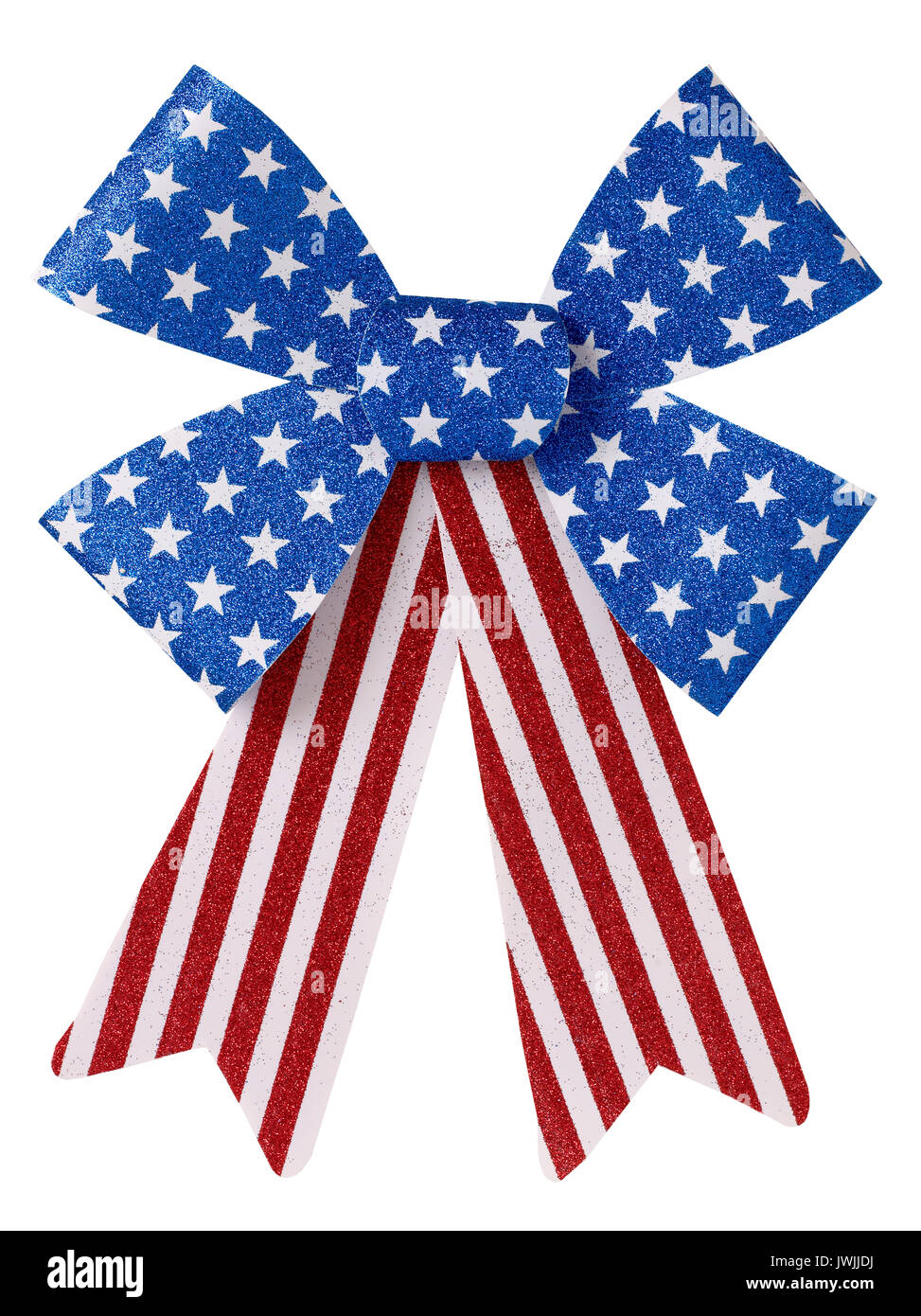 Red White and Blue bow Banque D'Images