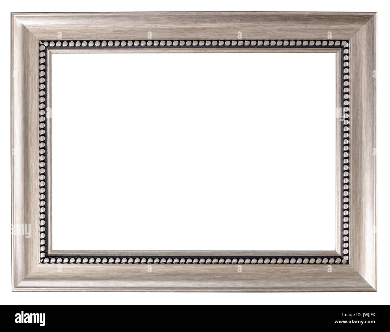 Cadre photo peint argent Banque D'Images