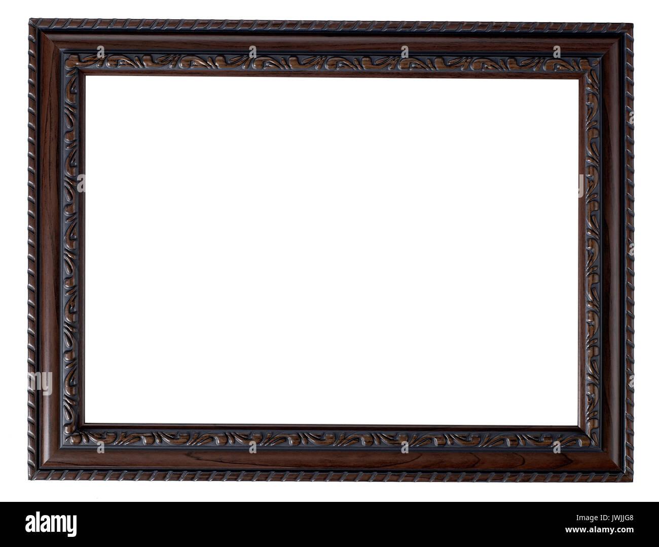 Cadre Photo en bois peint Banque D'Images