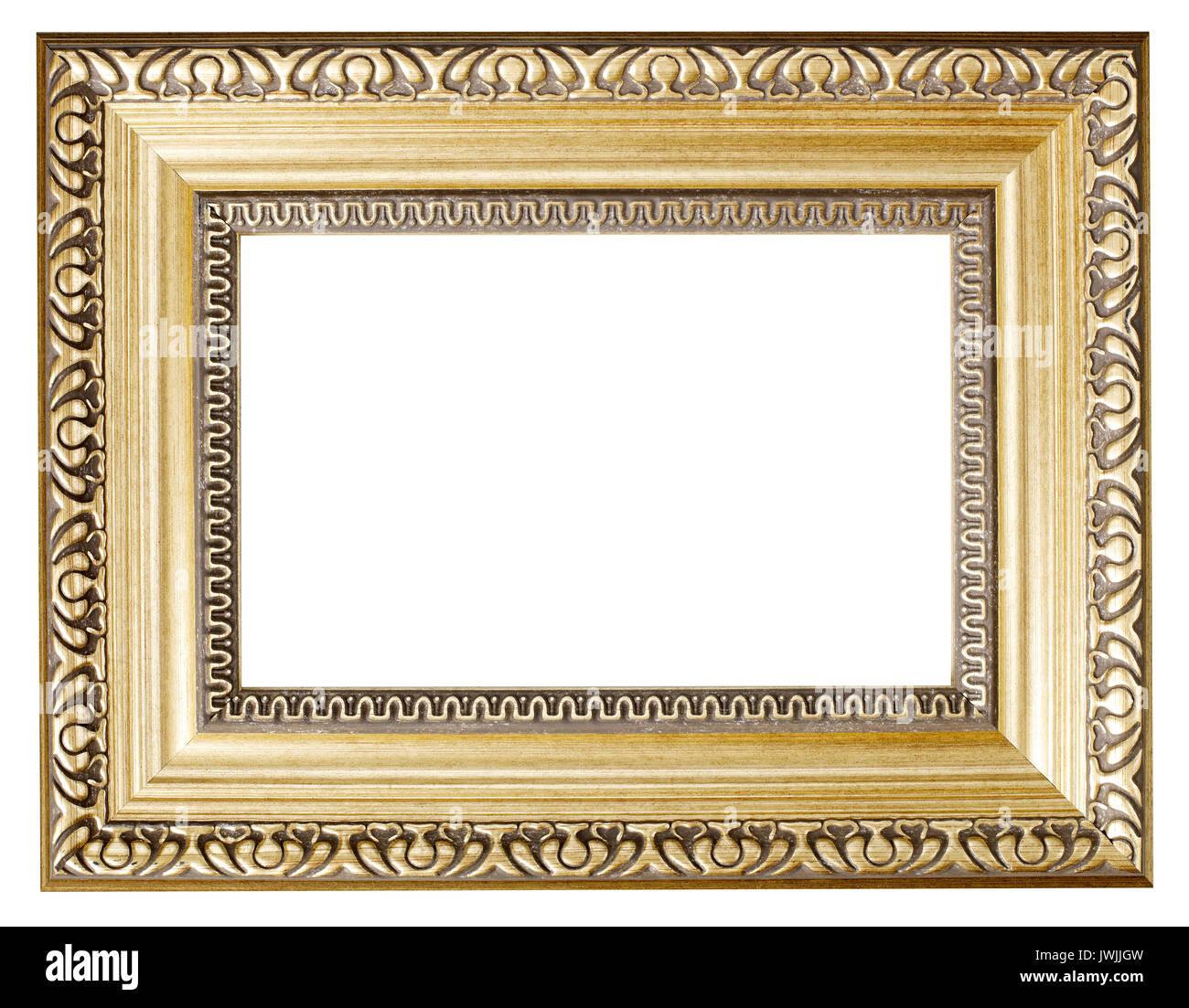 Cadre photo peint d'or Banque D'Images