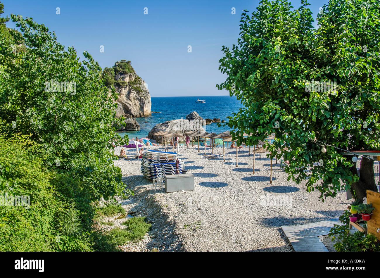 Plage Krioneri - Parga, Grèce Photo Stock
