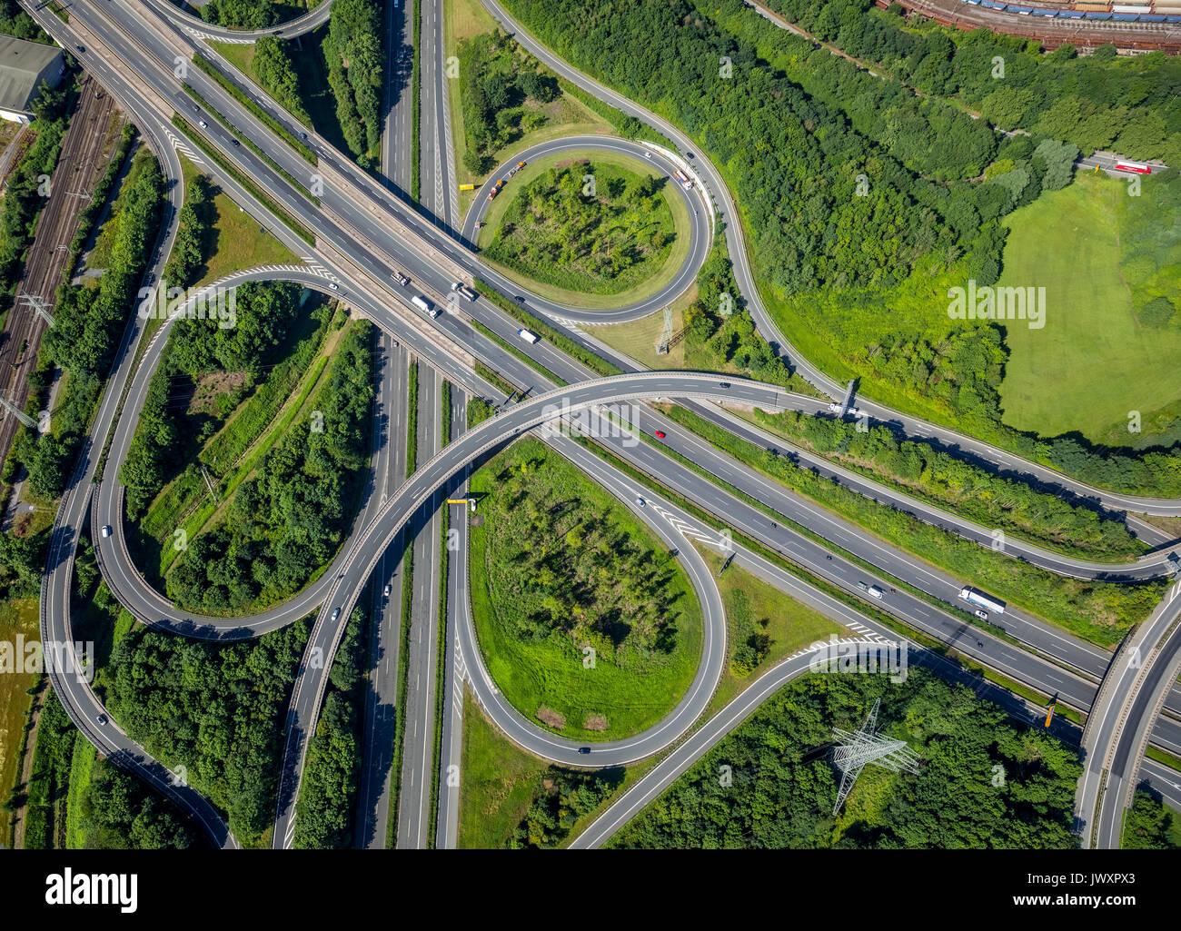 Springorumknoten, échanges Springorum, spaghetti, autoroute, routes, B236, Brackeler Hellweg, Dortmund, Ruhr, Rhénanie du Nord-Westphalie, Ge Photo Stock