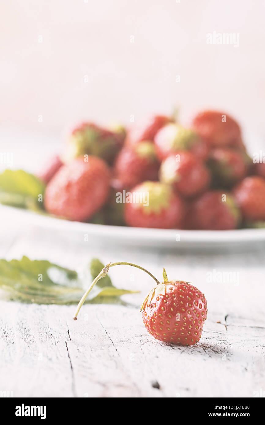 Tas de fraises fraîches Photo Stock