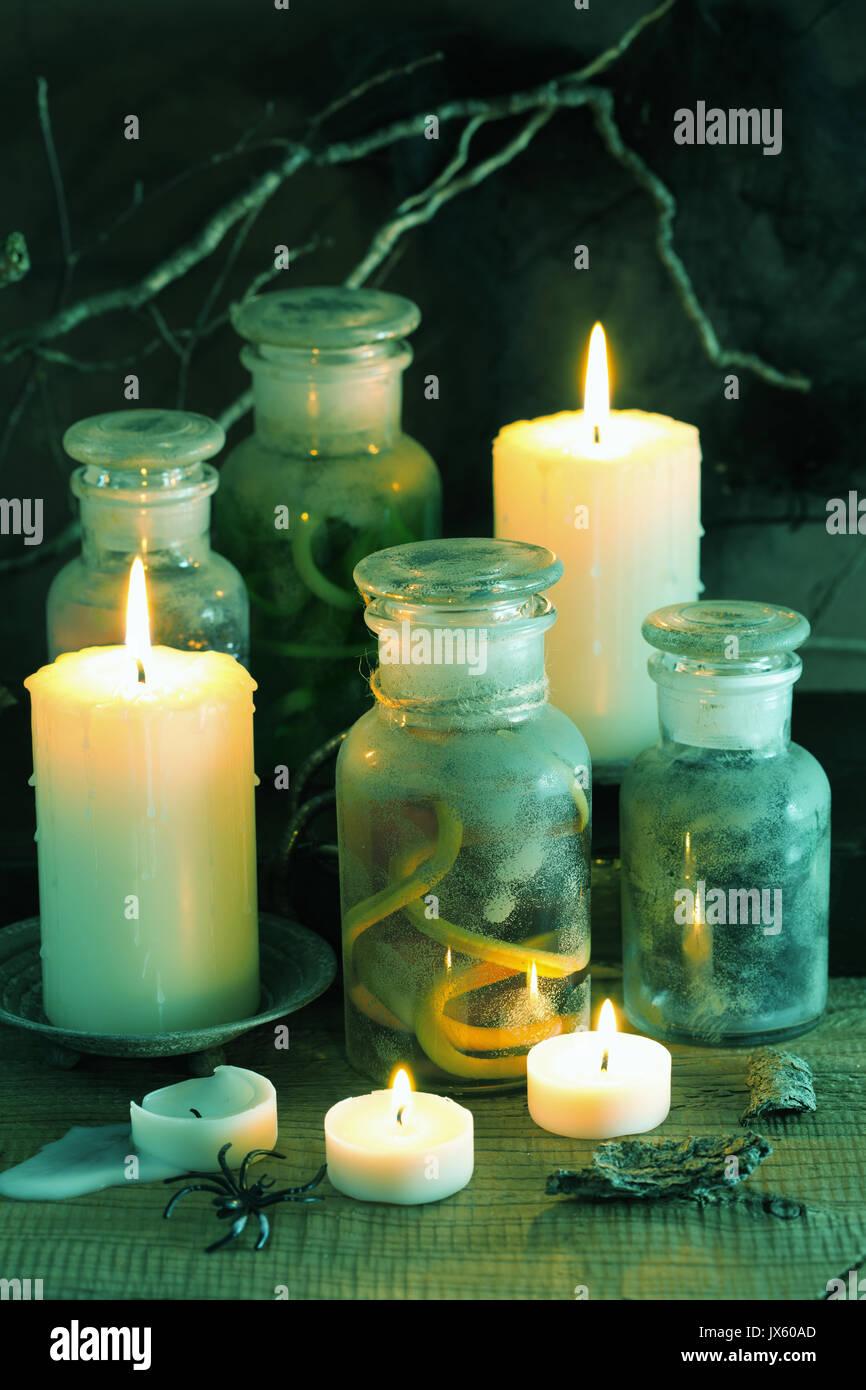 Decoration Sorciere Halloween.Pots D Apothicaire Sorcière Potion Magique Halloween Decoration