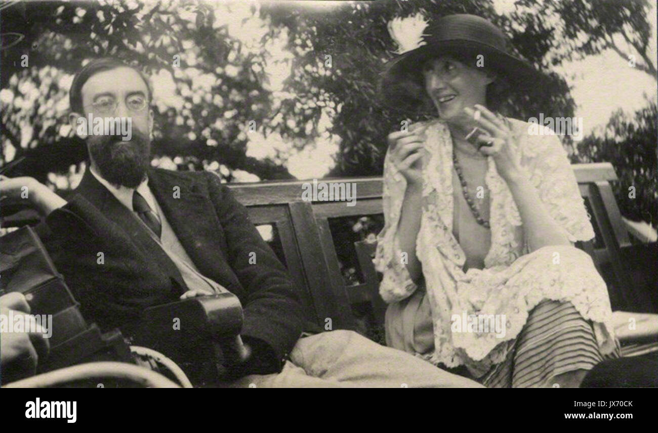 Lytton Strachey et Virginia Woolf par Ottoline Morrell Banque D'Images