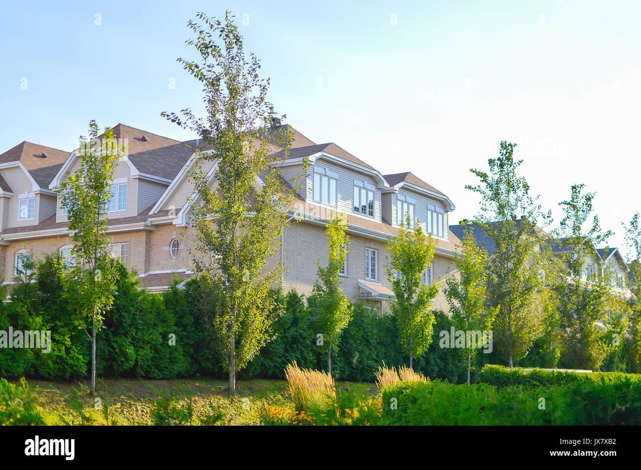 Maison Moderne En Bois Franc Près Du Central Park Au Canada