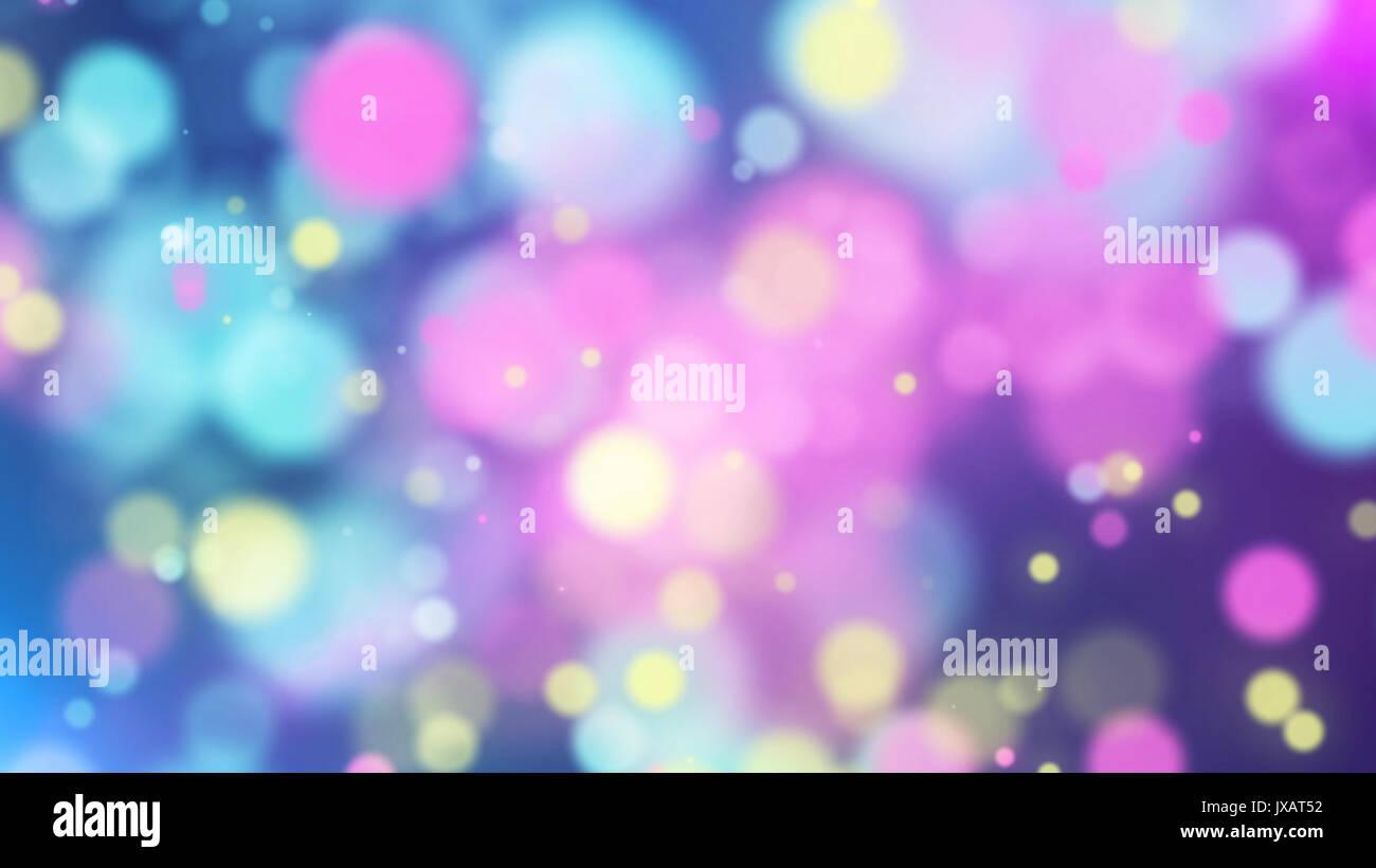 Rendu 3d Joyeux De Particules Multicolores Sur Un Bleu Clair Et