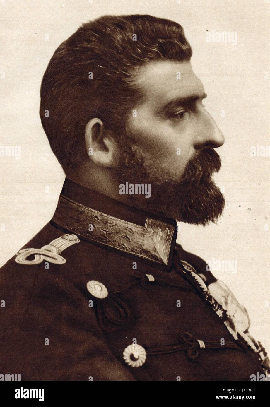 Le roi Ferdinand I de Roumanie en juin 1916 Photo Stock