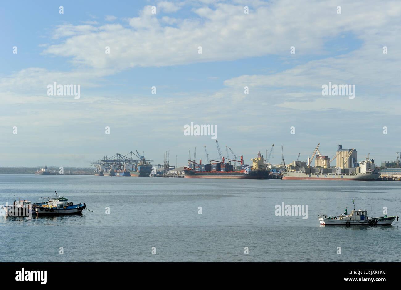 Tanzanie Dar es Salaam , TANZANIE / port de Dar es Salam, Hafen Photo Stock