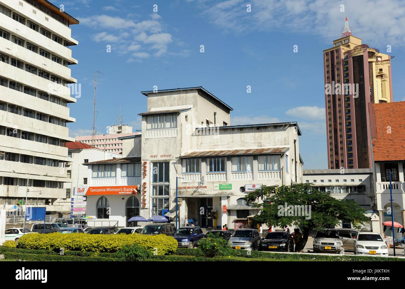 Tanzanie Dar es Salaam , old post office / Tanzanie Dar es Salam, Postamt Photo Stock