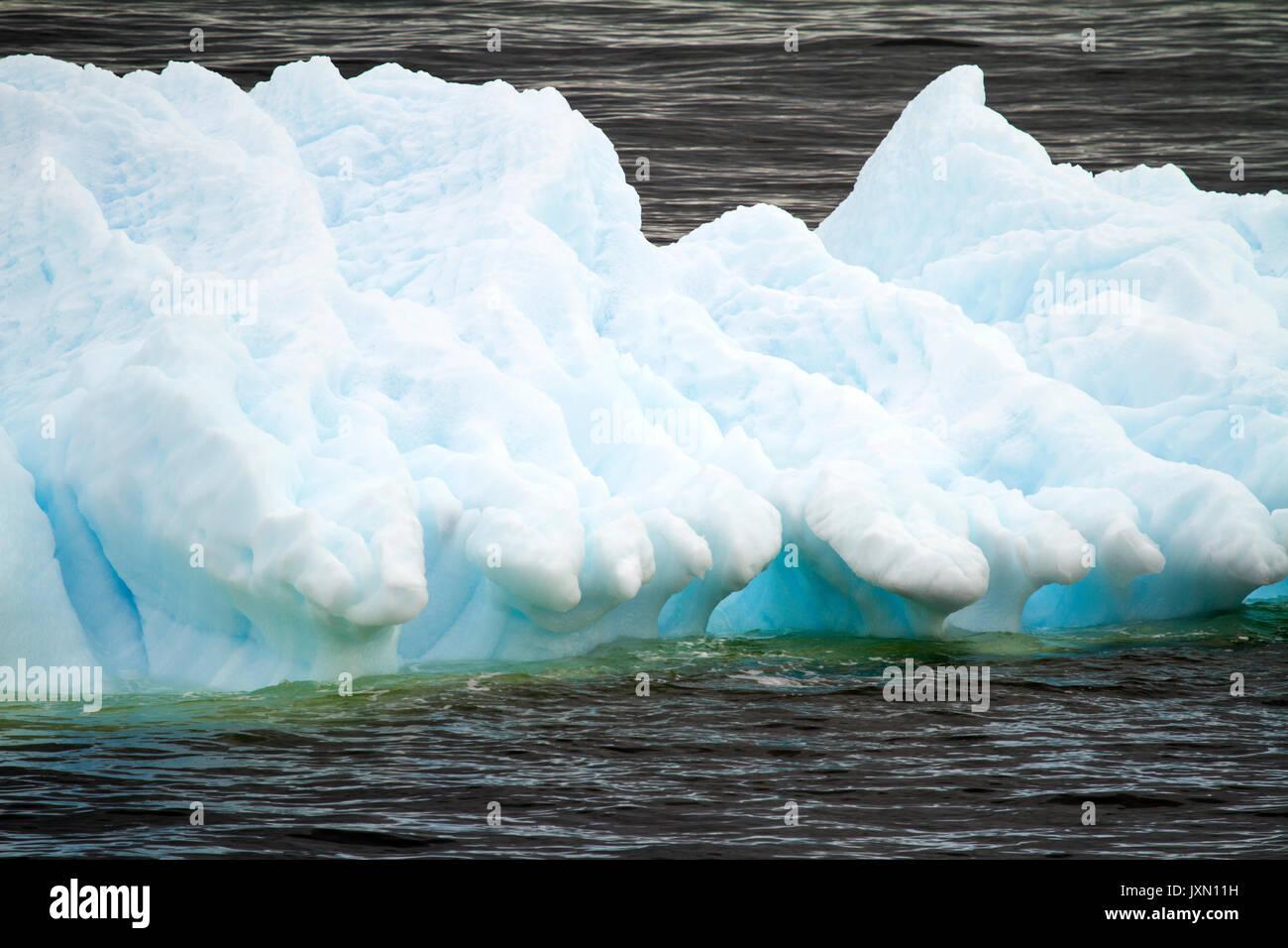L'antarctique - La glace flottante - Réchauffement climatique Photo Stock