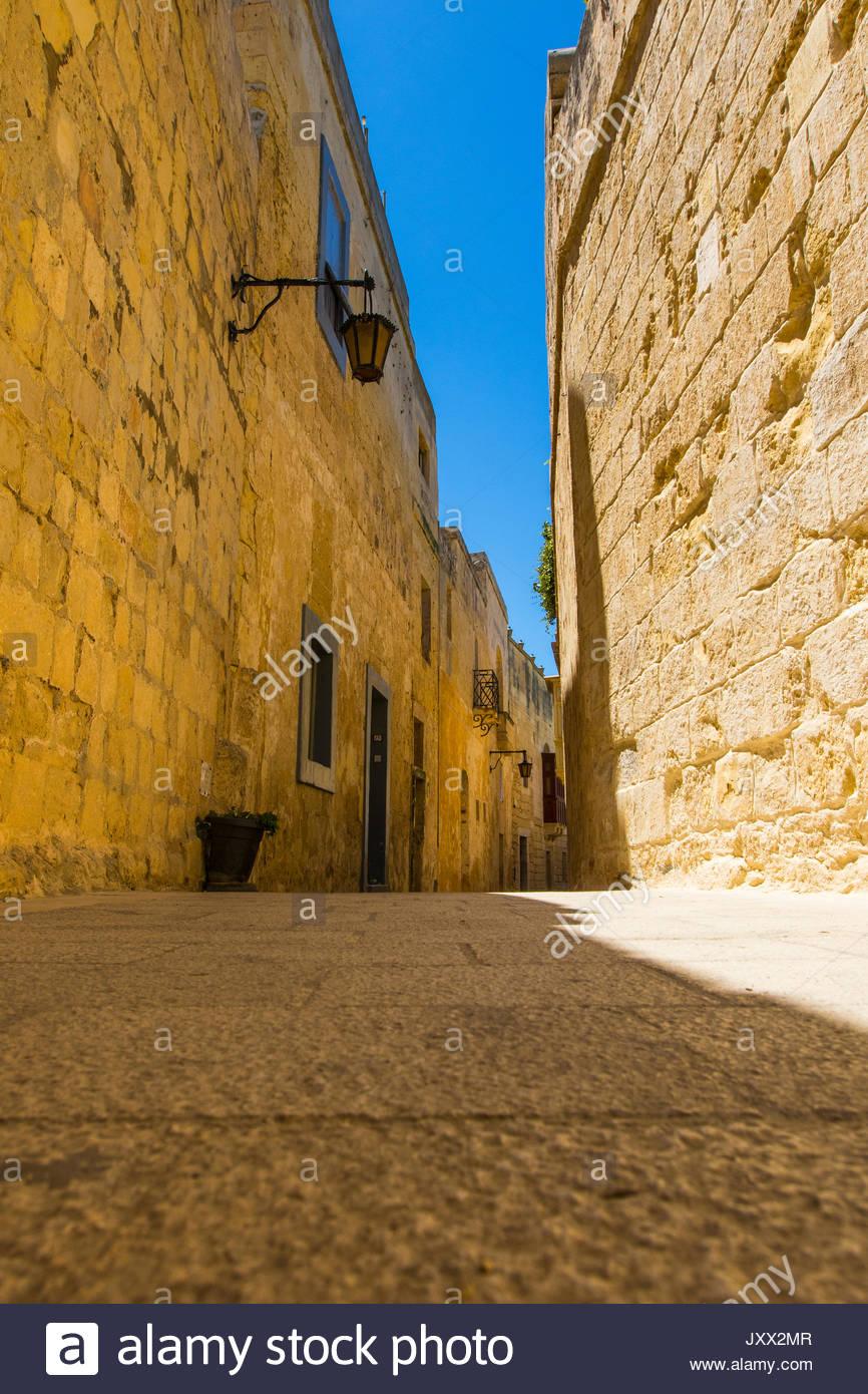 Ruelle à Mdina, Malte Photo Stock