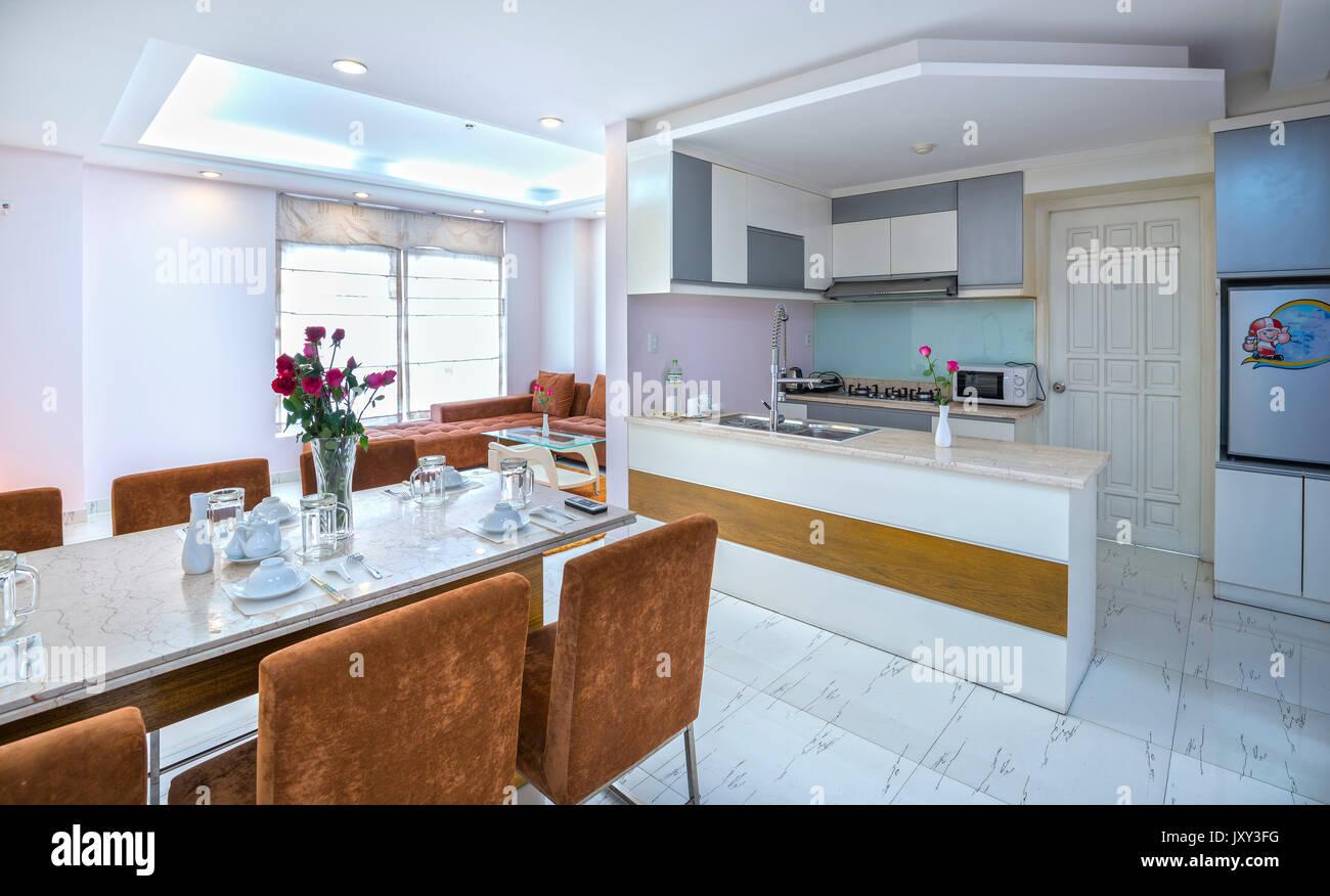 2017 salle manger cuisine moderne dans des appartements de luxe avec des quipements propres spacieux luxueux intrieur est de rve