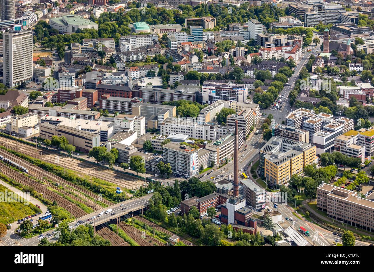 Funke Media Group, basé à Essen, est une entreprise de médias, l'Europe d'Essen, Essen, Munich, 2 bureau de rédaction, WAZ WAZ, rédaction principale Piscine Photo Esse Photo Stock