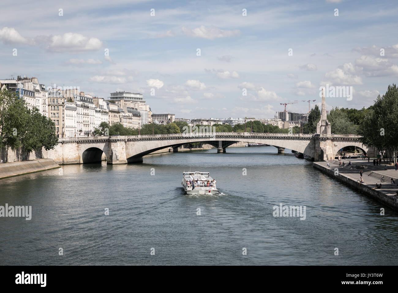La seine river paris Banque D'Images