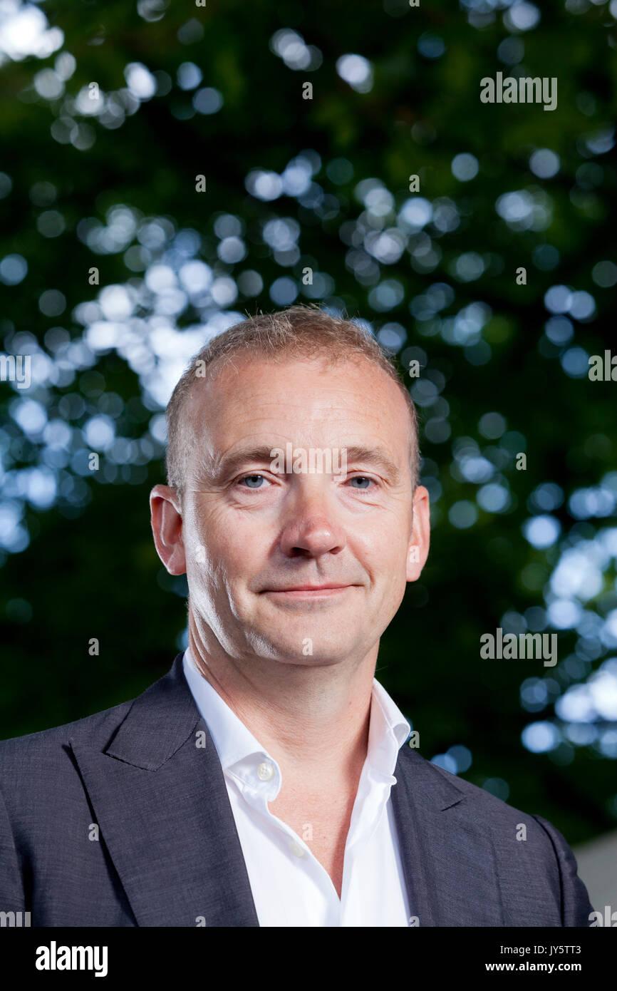 Edinburgh, Royaume-Uni. Août 19, 2017. Jerry Brotton, l'auteur et expert international de l'histoire de la cartographie, apparaissant à l'Edinburgh International Book Festival. Crédit: GARY DOAK/Alamy Live News Photo Stock