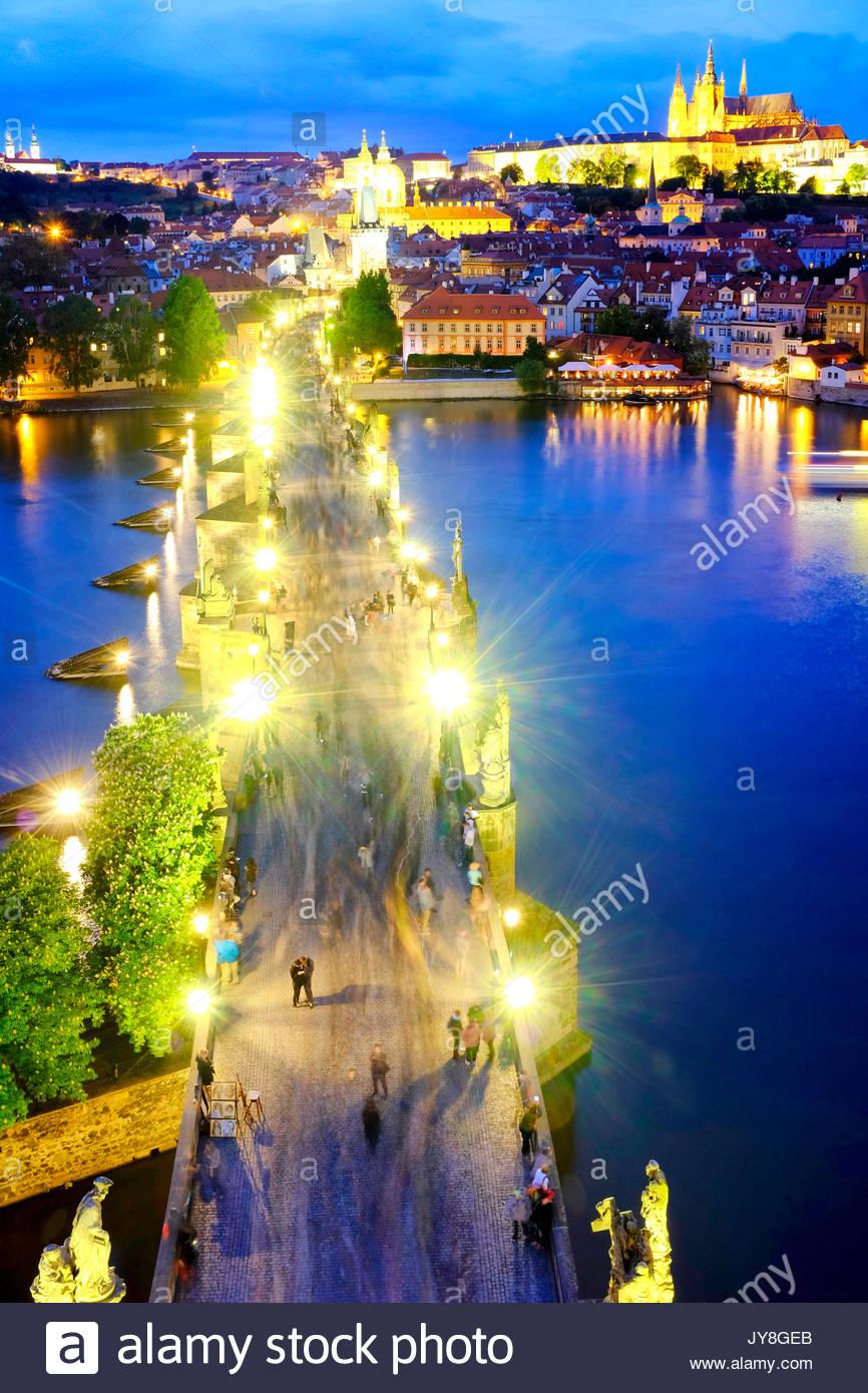 Le Pont Charles, Prague, République Tchèque Photo Stock
