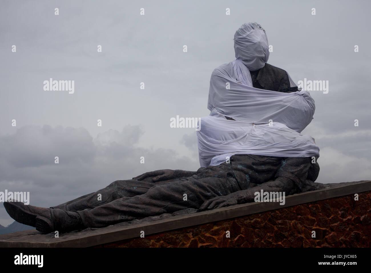 Timor oriental. Une statue à Dili, en commémoration de ceux qui ont été tués dans le massacre de Santa Cruz en 1991 Banque D'Images
