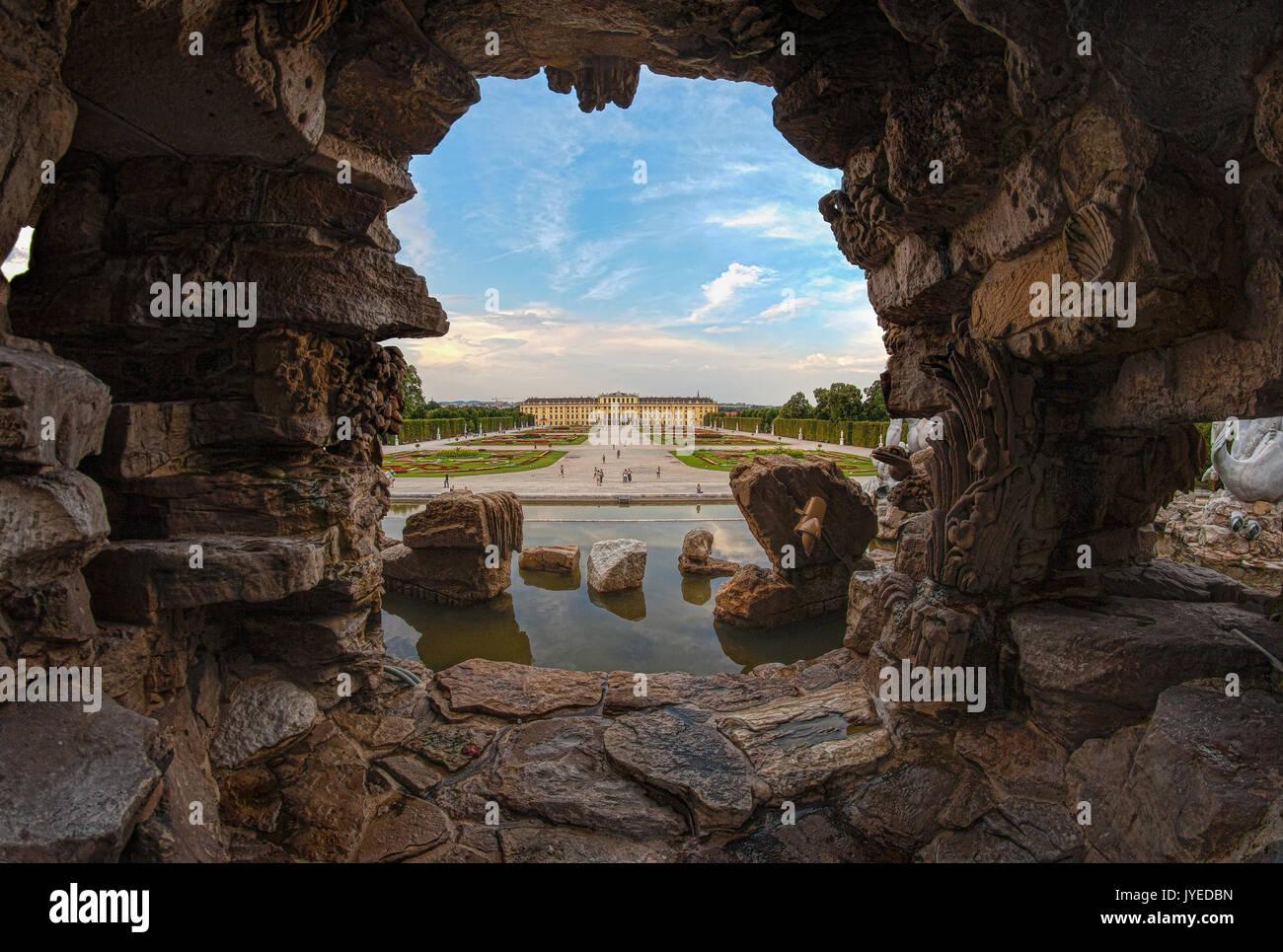 Palais de Schonbrunn, site du patrimoine mondial de l'UNESCO, vienne, autriche. Photo Stock