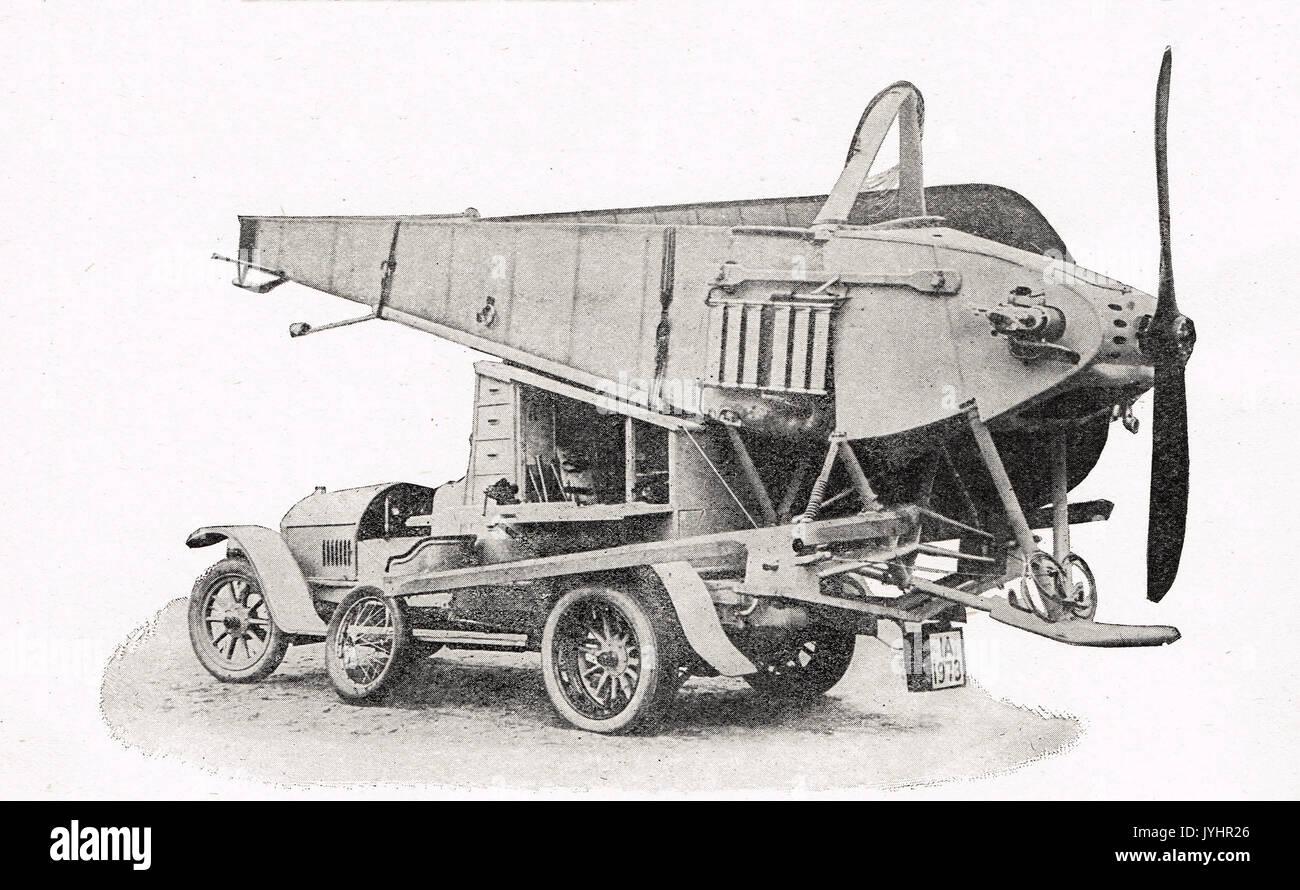 Voiture conçue pour transporter des avions, WW1 Banque D'Images