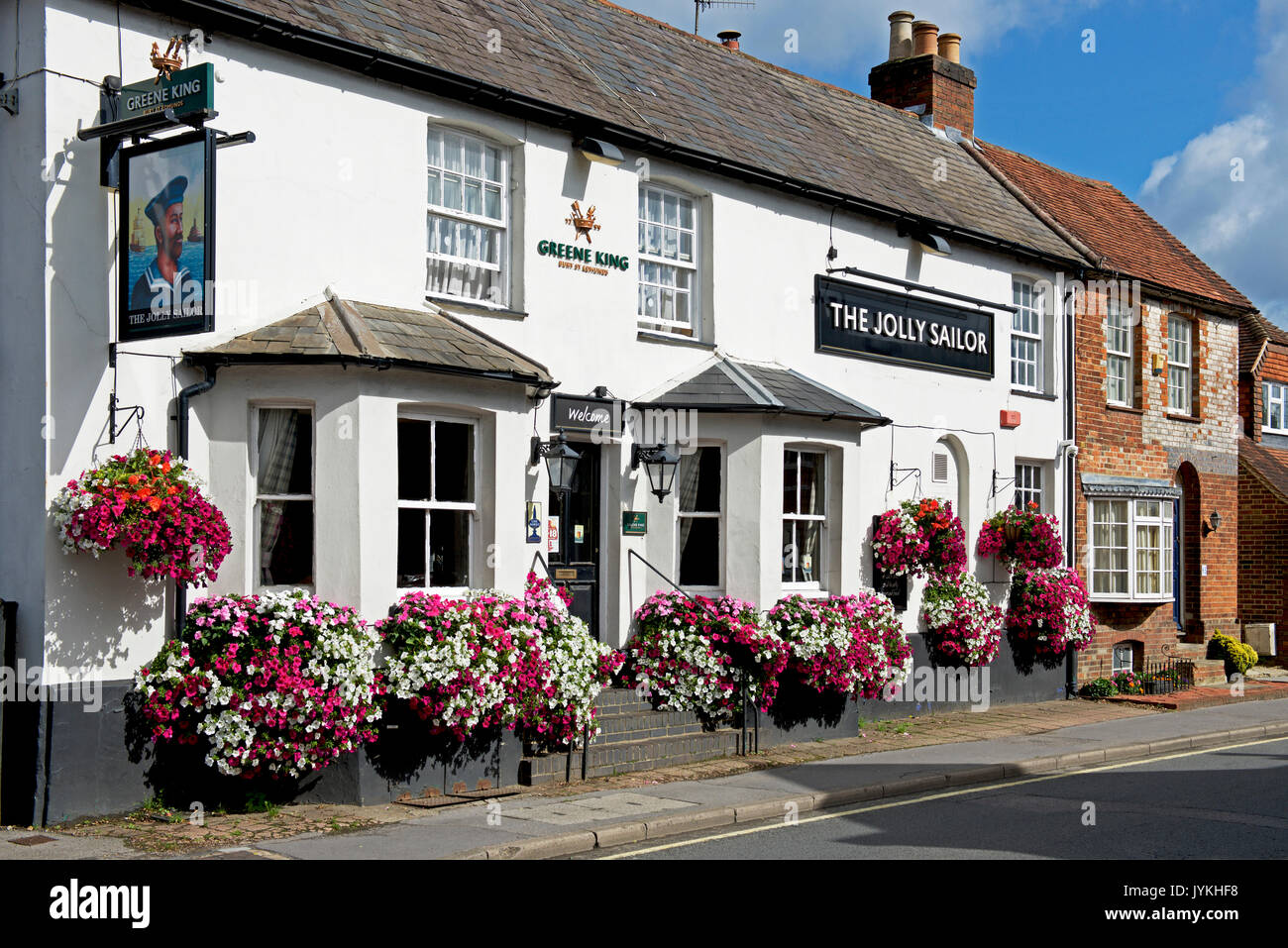 Le Jolly Sailor pub, West Street, Farnham, Surrey, Angleterre, Royaume-Uni Photo Stock