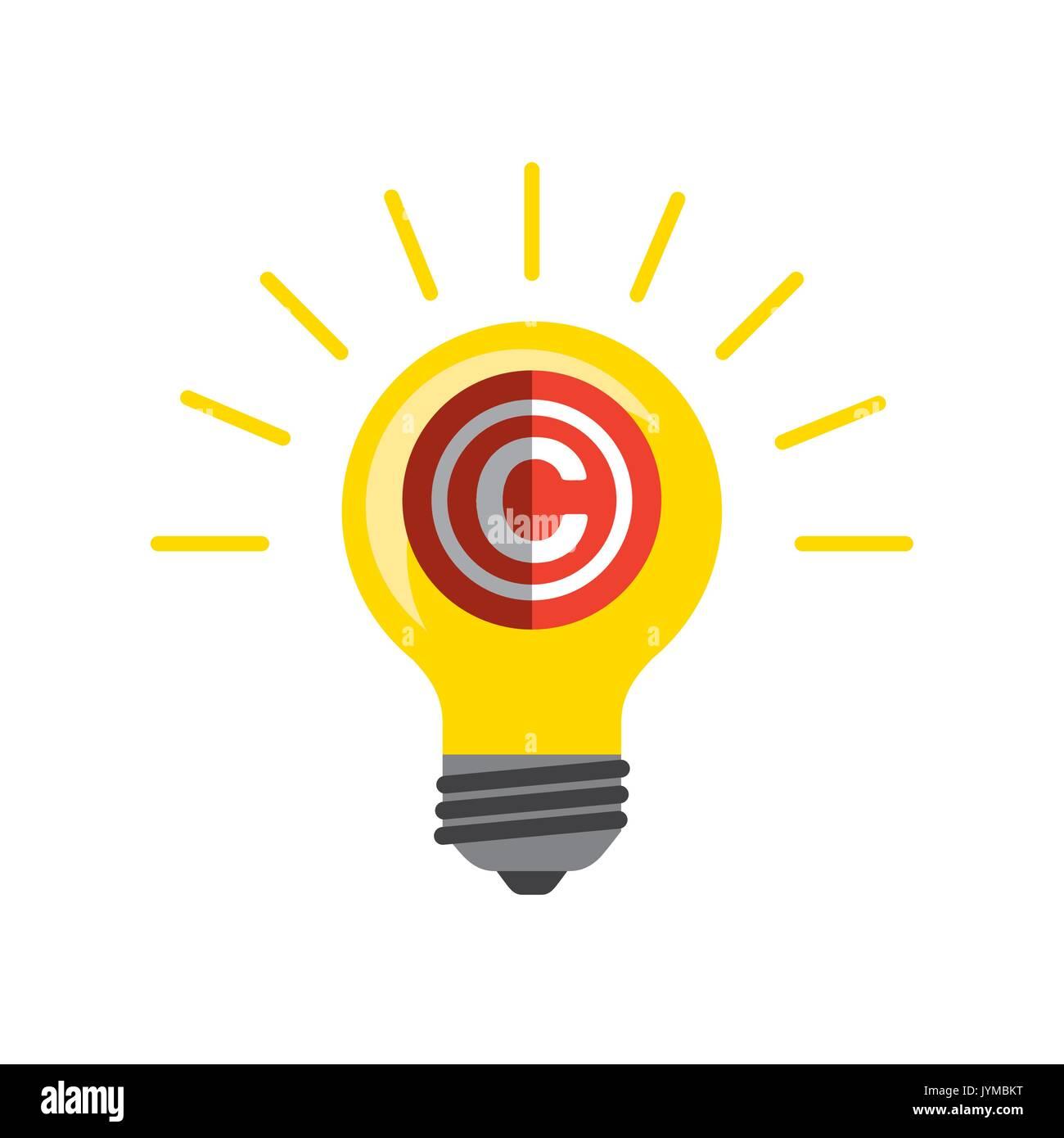 Copyright concept design Illustration de Vecteur