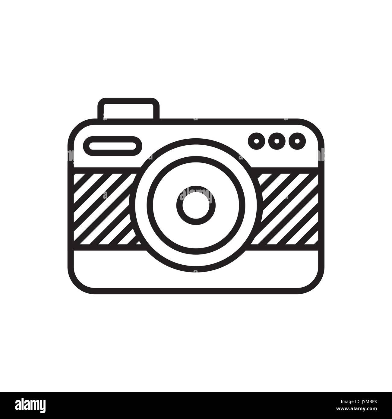 Conception photographique de l'appareil photo Illustration de Vecteur