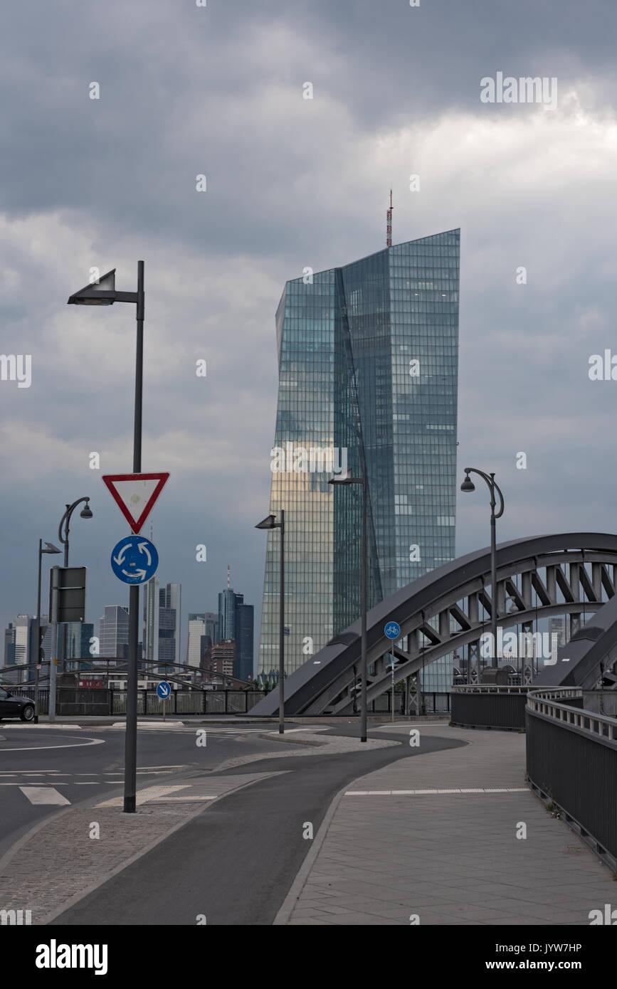 Le nouveau siège de la Banque centrale européenne à Francfort am Main Photo Stock