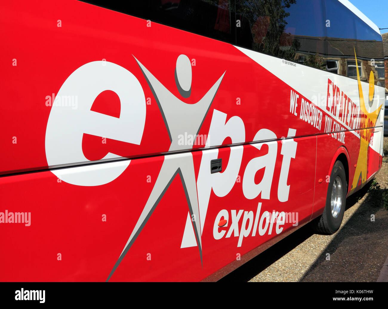 Billet d'explorer, d'entraîneurs, coach, Voyage, excursion, excursions, excursion, excursions, voyages, entreprises, transports, vacances, England, UK Photo Stock