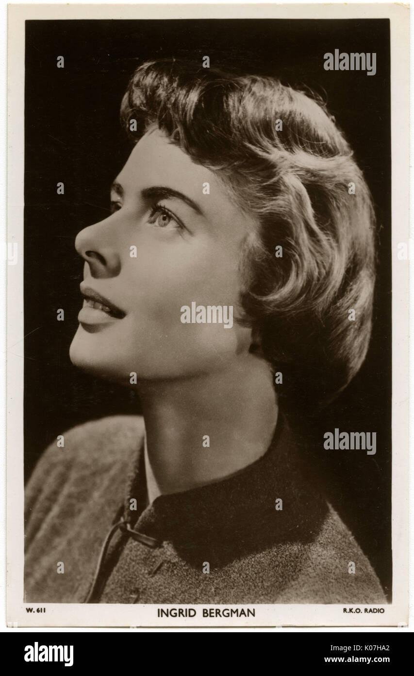 Ingrid Bergman (1915 - 1982), actrice suédoise. Date: Banque D'Images
